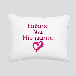 Personalize,Future Mrs. Rectangular Canvas Pillow