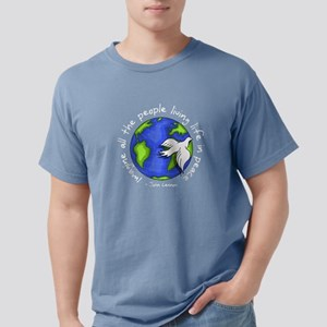 imagine_world_life_peace_dark T-Shirt