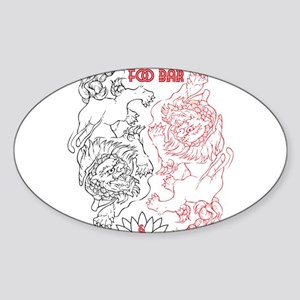 Foo Bar and Lotus Gallery FOO DOGS Sticker