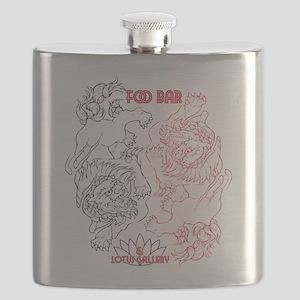 Foo Bar and Lotus Gallery FOO DOGS Flask