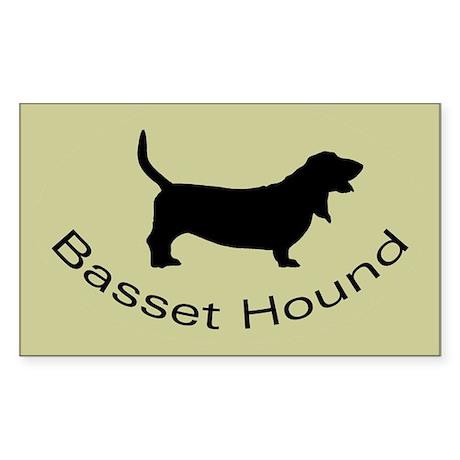 Basset Hound Dog Sticker (Rectangle)