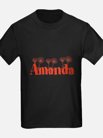Orange Personalized Name T-Shirt