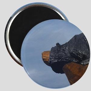Black Bear  face, blue Sky Magnet