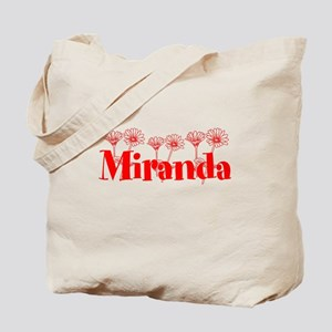 Red Personalized Name Tote Bag