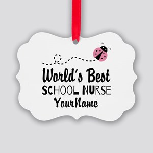 World's Best School Nurse Picture Ornament