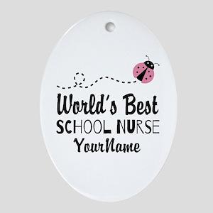 World's Best School Nurse Ornament (Oval)