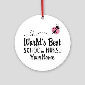 World's Best School Nurse Ornament (Round)