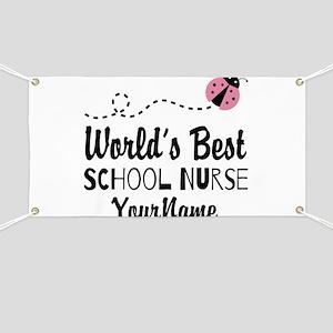 World's Best School Nurse Banner