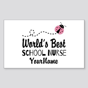 World's Best School Nurse Sticker (Rectangle)