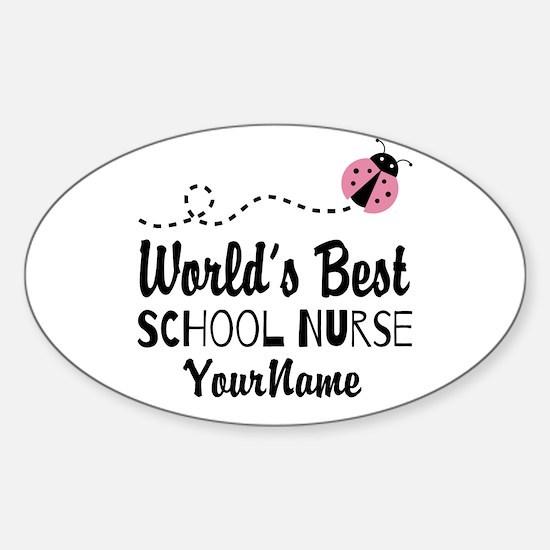 World's Best School Nurse Sticker (Oval)