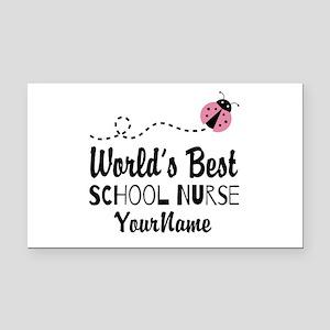 World's Best School Nurse Rectangle Car Magnet
