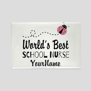 World's Best School Nurse Rectangle Magnet