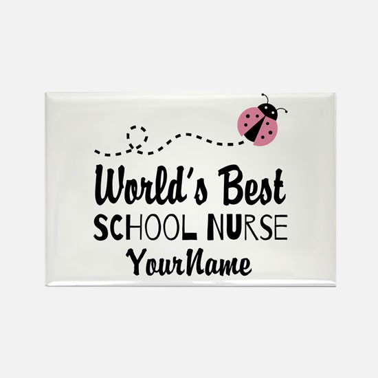 World's Best School Nurse Rectangle Magnet
