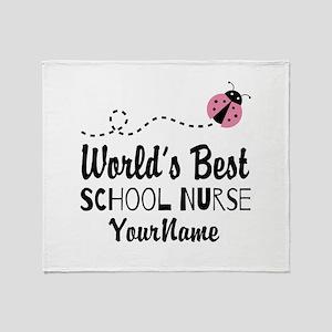 World's Best School Nurse Throw Blanket