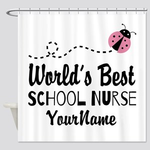 World's Best School Nurse Shower Curtain