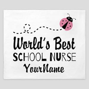 World's Best School Nurse King Duvet