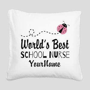 World's Best School Nurse Square Canvas Pillow