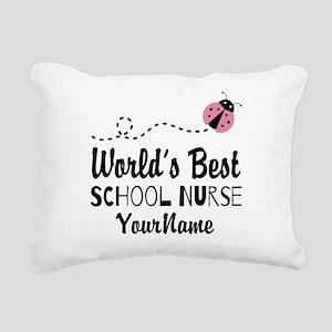 World's Best School Nurse Rectangular Canvas Pillo