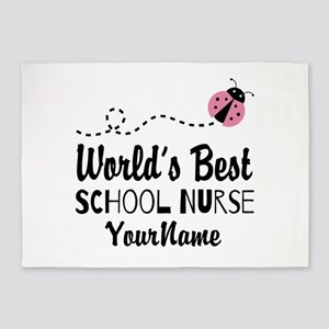 World's Best School Nurse 5'x7'Area Rug