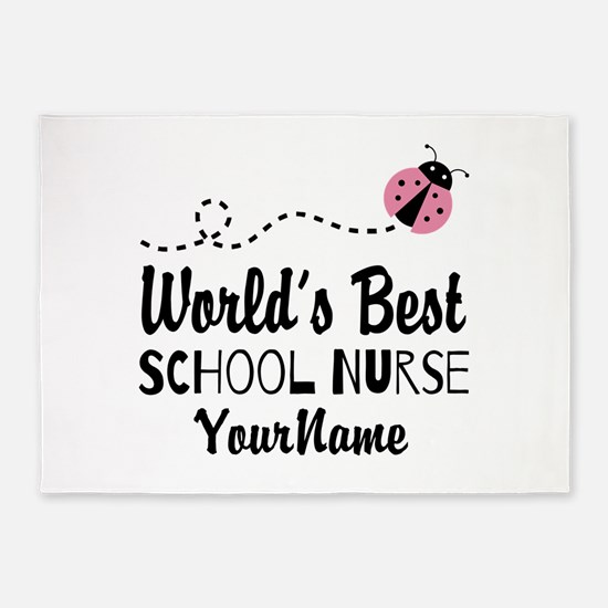 World's Best School Nurse 5'x7'Area Rug