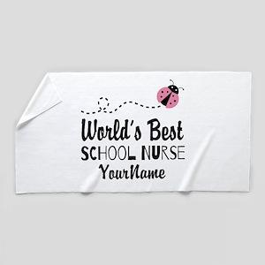 World's Best School Nurse Beach Towel