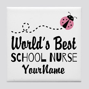 World's Best School Nurse Tile Coaster