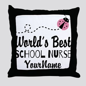 World's Best School Nurse Throw Pillow
