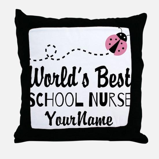 World's Best School Nurse Throw Pillow