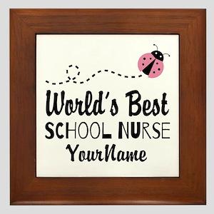 World's Best School Nurse Framed Tile