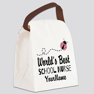 World's Best School Nurse Canvas Lunch Bag