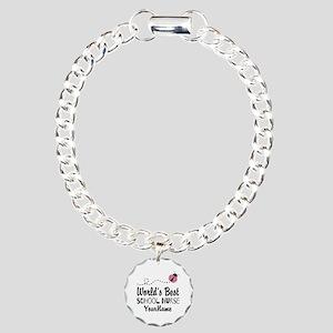 World's Best School Nurse Charm Bracelet, One Char