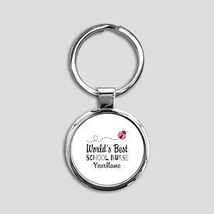 World's Best School Nurse Round Keychain