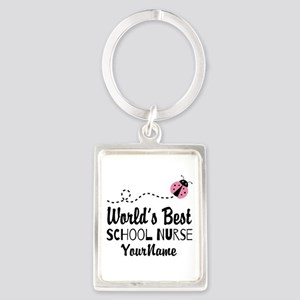World's Best School Nurse Portrait Keychain