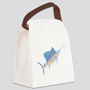 Tribal Sailfish Canvas Lunch Bag