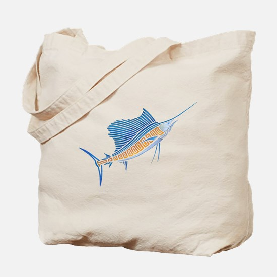 Tribal Sailfish Tote Bag