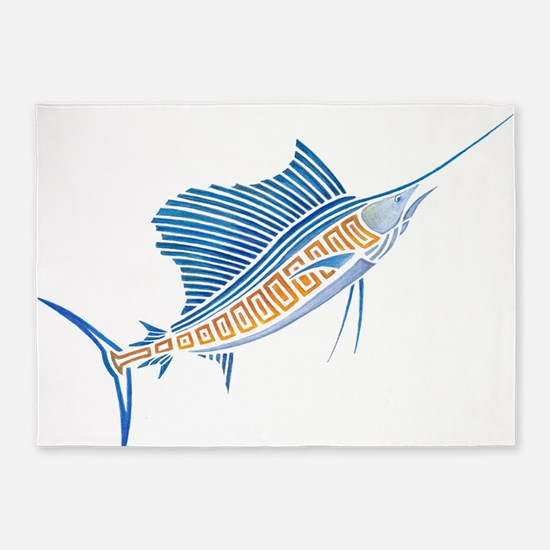 Tribal Sailfish 5'x7'Area Rug