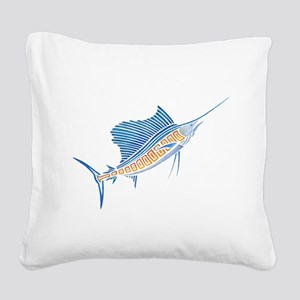 Tribal Sailfish Square Canvas Pillow