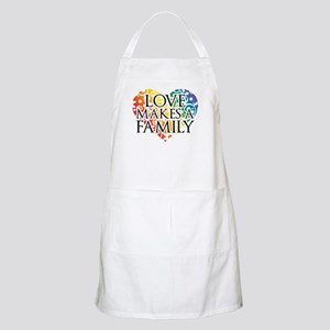 Love Makes A Family LGBT Apron