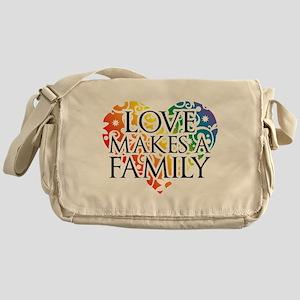 Love Makes A Family LGBT Messenger Bag