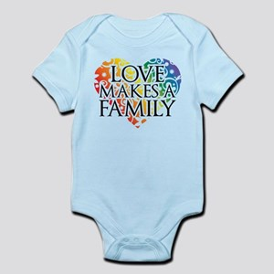 Love Makes A Family LGBT Body Suit