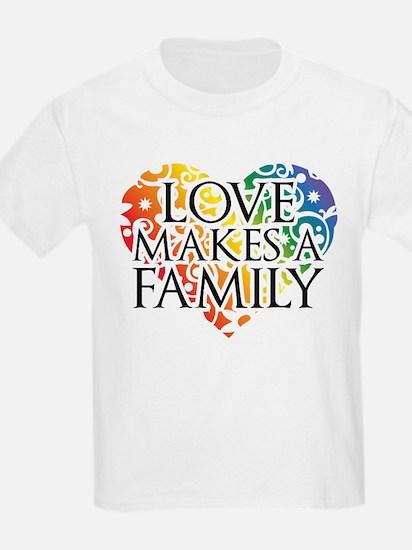 Love Makes A Family LGBT T-Shirt