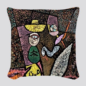 Klee - The Travelling Circus Woven Throw Pillow