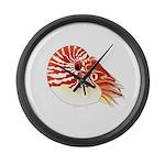Chambered Nautilus Large Wall Clock