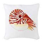 Chambered Nautilus Woven Throw Pillow