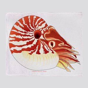 Chambered Nautilus Throw Blanket