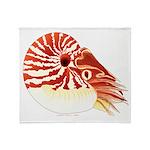 Chambered Nautilus Throw Blanket