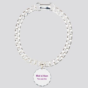 Maid Of Honor By Name Charm Bracelet, One Charm