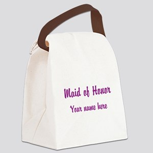 Maid Of Honor By Name Canvas Lunch Bag