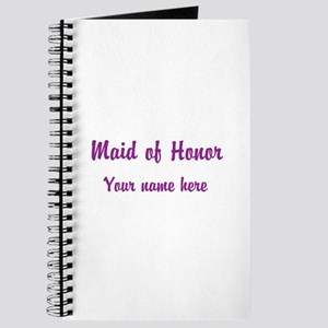Maid Of Honor By Name Journal