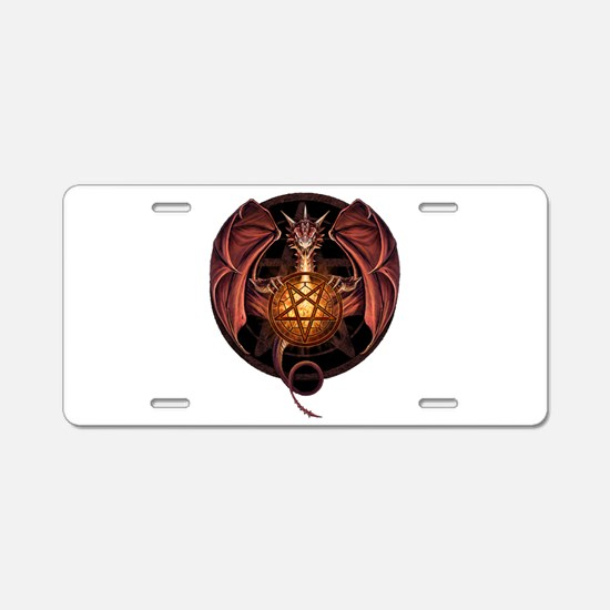 Satanic Dragon Aluminum License Plate